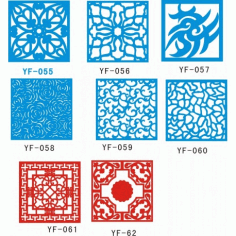 Cnc Panel Laser Cut Pattern File cn-h126 Free CDR Vectors Art