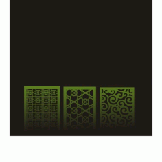 Cnc Panel Laser Cut Pattern File cn-h093 Free CDR Vectors Art