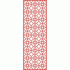 Cnc Panel Laser Cut Pattern File cn-h071 Free CDR Vectors Art