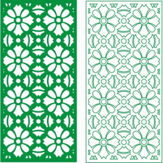 Cnc Panel Laser Cut Pattern File cn-h064 Free CDR Vectors Art