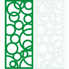 Cnc Panel Laser Cut Pattern File cn-h053 Free CDR Vectors Art
