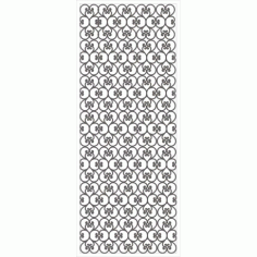 Cnc Panel Laser Cut Pattern File cn-h038 Free CDR Vectors Art