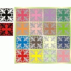 Cnc Panel Laser Cut Pattern File cn-h019 Free CDR Vectors Art