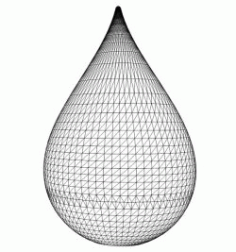 Droplets Download For Laser Engraving Machines 3d Illusion Led Lamp Free DXF File