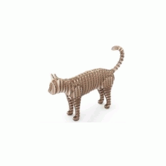 Cat 3D Puzzle Free DXF File