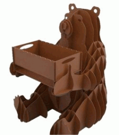 Bear Holds The Box Download For Laser Cut Plasma Free DXF File