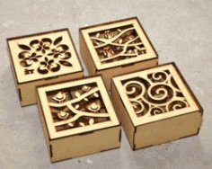 Bird And Owl Motifs Box Download For Laser Cut Free DXF File