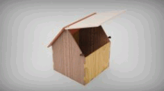 Box Shaped House Download For Laser Cut Free DXF File