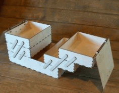 Ladder Box Download For Laser Cut Free DXF File