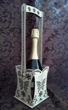 Box For Champagne File Download For Laser Cut Free DXF File