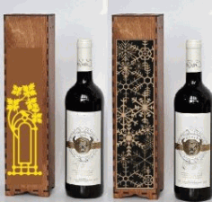 Box Of Snowflakes For Wine File Download For Laser Cut Free DXF File