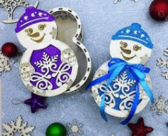 Box Of Snowmen File Download For Laser Cut Free DXF File