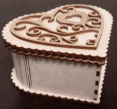 Heart Wooden Box File Download For Laser Cut Cnc Free DXF File