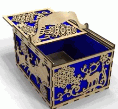 New year's Box File Download For Laser Cut Free DXF File