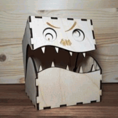 Box With Teeth Download For Laser Cut Free DXF File
