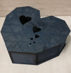 Flexible Heart Box Res Download For Laser Cut Free DXF File