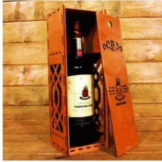 Gift Wine Box Download For Laser Cut Free DXF File