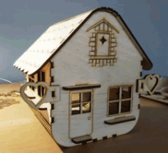 Box House Model Download For Laser Cut Cnc Free DXF File