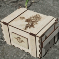 Box In The Military Download For Laser Cut Cnc Free DXF File