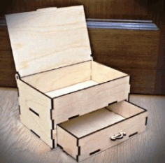 Box With Drawers Download For Laser Cut Cnc Free DXF File