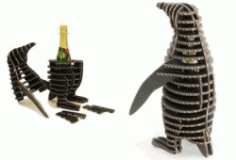 Penguins Wine Box Download For Laser Cut Free DXF File