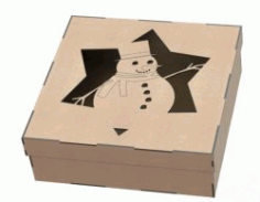 Snowman Gift Box Download For Laser Cut Plasma Free DXF File