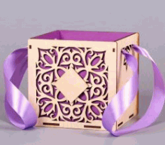 Wedding Gift Box For Laser Cut Free DXF File