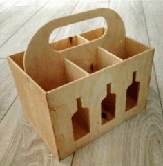 Wooden Box Six For Wine Download For Laser Cut Cnc Free DXF File
