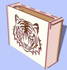 Lion Head Motifs Box Download For Laser Cut Free DXF File