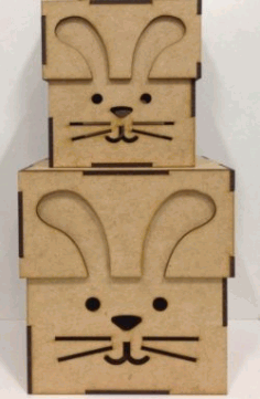 Rabbit Box Download For Laser Cut Free DXF File