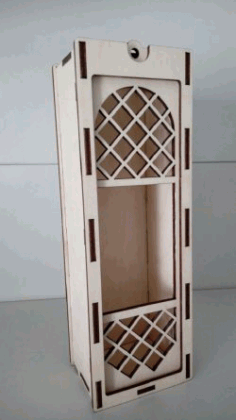 Wine Box Download For Laser Cut Free DXF File