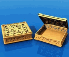 Wooden Gift Box Download For Laser Cut Free DXF File