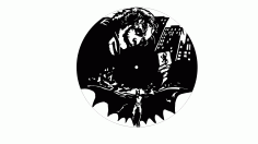 Batman Clock Laser Cut File Free CDR Vectors Art