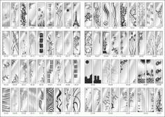 Custom Glass Sandblasting Designs Collection File Free CDR Vectors Art