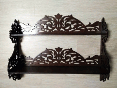 Decorated Shelf Laser Cut 6 Mm File Free CDR Vectors Art