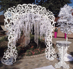 Decorative Diy Wedding Arch And Table Laser Cut File Free CDR Vectors Art
