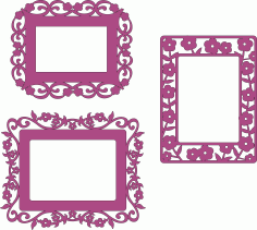 Frames Laser Cut File Free CDR Vectors Art