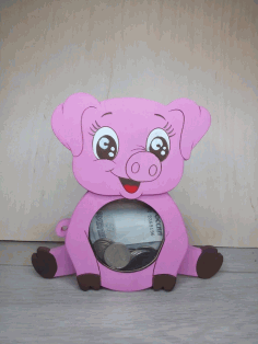 Laser Cut Children Piggy Bank File Free CDR Vectors Art