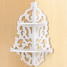 Laser Cut Corner Shelf File Free CDR Vectors Art