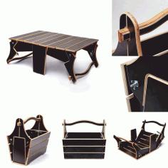 Laser Cut Folding Picnic Table Plans File Free CDR Vectors Art