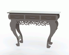 Laser Cut Table With Drawers File Free CDR Vectors Art
