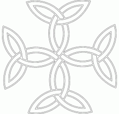 Celtic Triquetra Cross Free DXF File