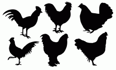 Chickens Free DXF File