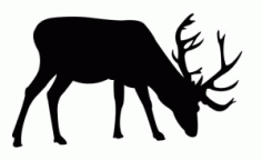 Deer Grazing Free DXF File
