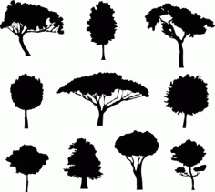 Different Trees Free DXF File
