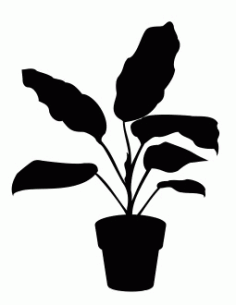 House Plant 2 Free DXF File