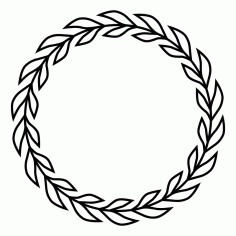 Laurels And Wreaths Design 4 Free DXF File