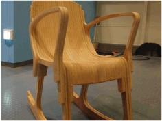 Layer Rocker Chair Free DXF File