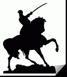 Mounted Cavalry Officer Free DXF File