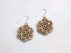 Oriental Earrings Free DXF File